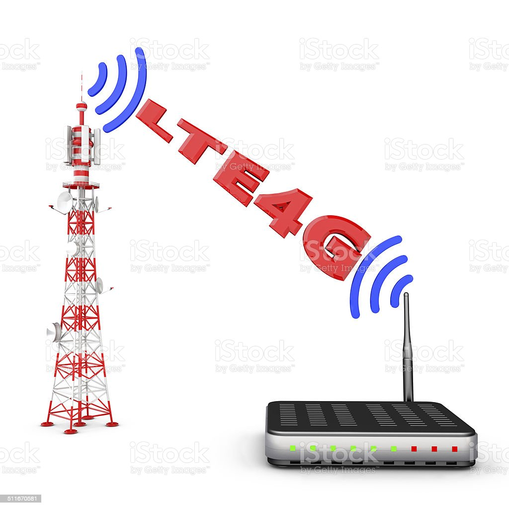 tower and modem stock photo