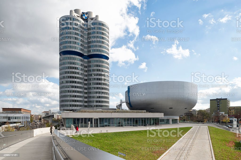 BMW Tower and Museum Munich stock photo