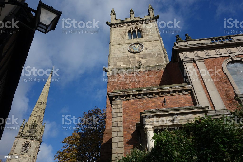 Tower and Spire. stock photo