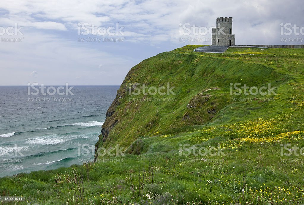 Tower at Cliffs of Moher royalty-free stock photo