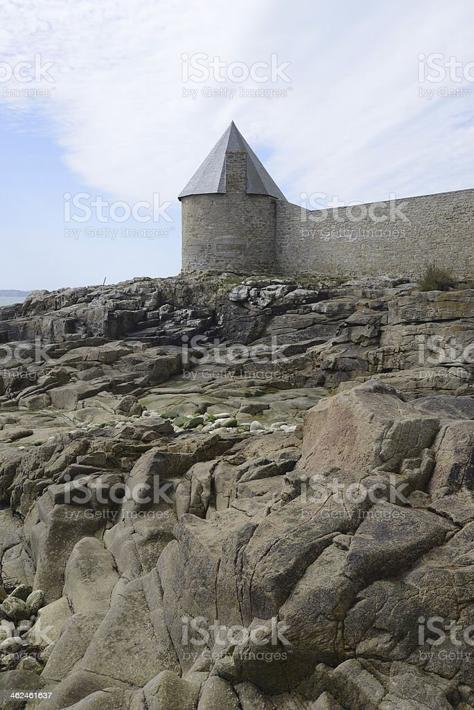 Tower at Lomener, Brittany stock photo