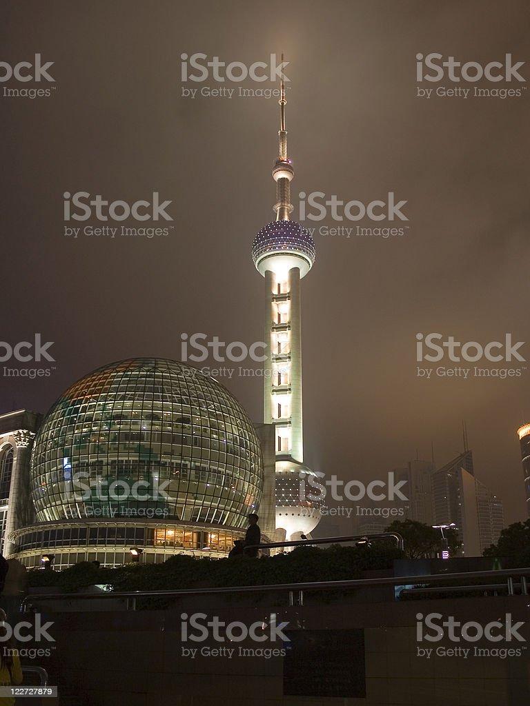 TV tower at night royalty-free stock photo