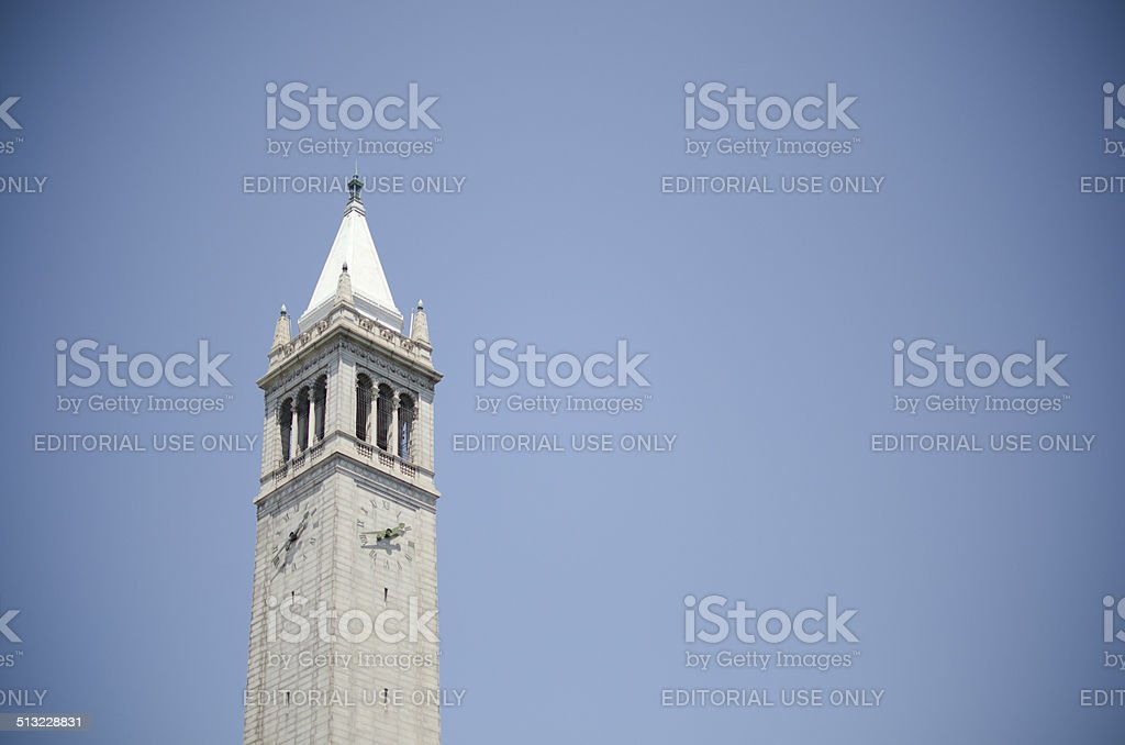 Tower at University of California-Berkely stock photo