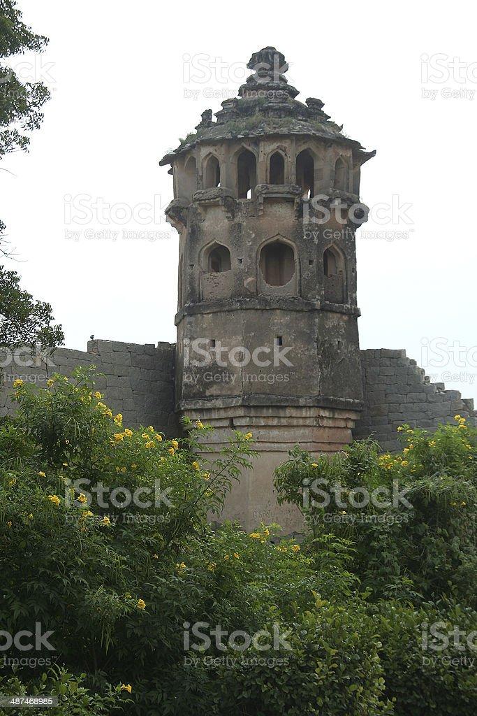 Tower behind Greenery stock photo