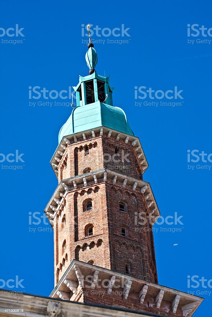Tower Bissara next to Palladian Basilica in Vicenza. stock photo