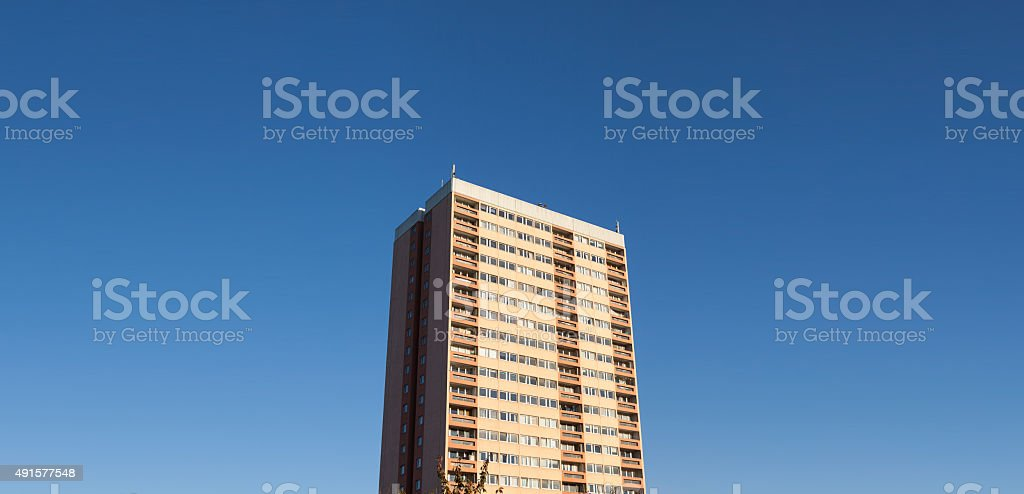 Tower block with copy space stock photo