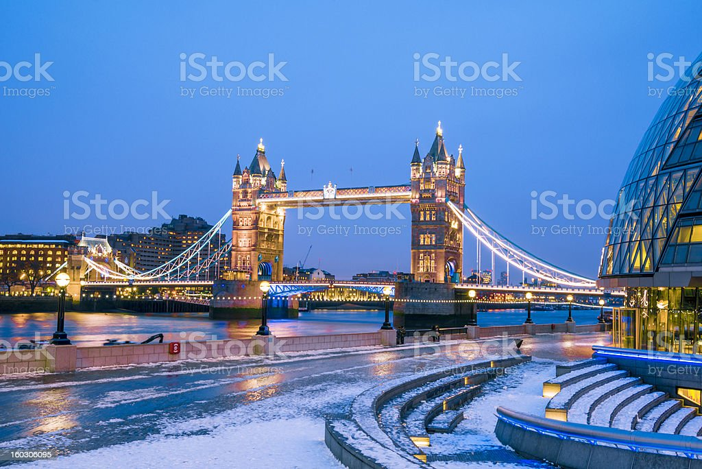 Tower Bridge and City Hall London royalty-free stock photo