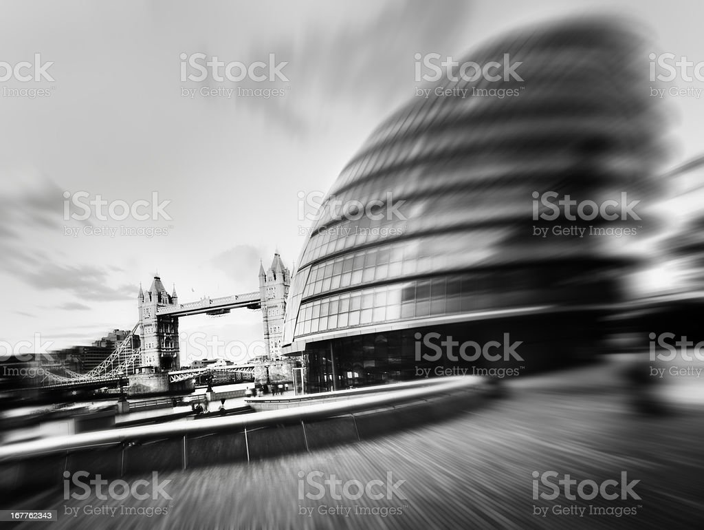 Tower Bridge and City Hall, London. royalty-free stock photo