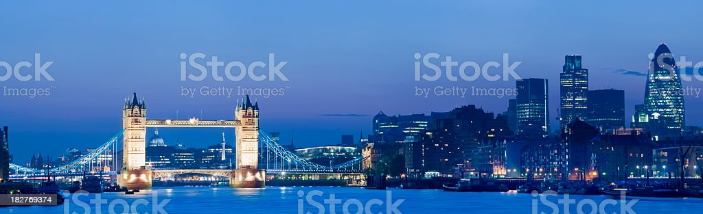 Tower Bridge and London City skyline UK royalty-free stock photo