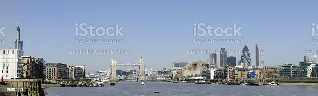 Tower Bridge and London skyline panorama royalty-free stock photo