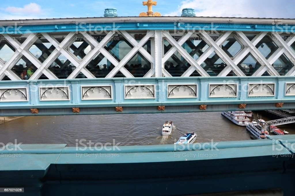Tower Bridge and River Thames in London, United Kingdom stock photo