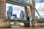 Tower bridge and river Thames, London