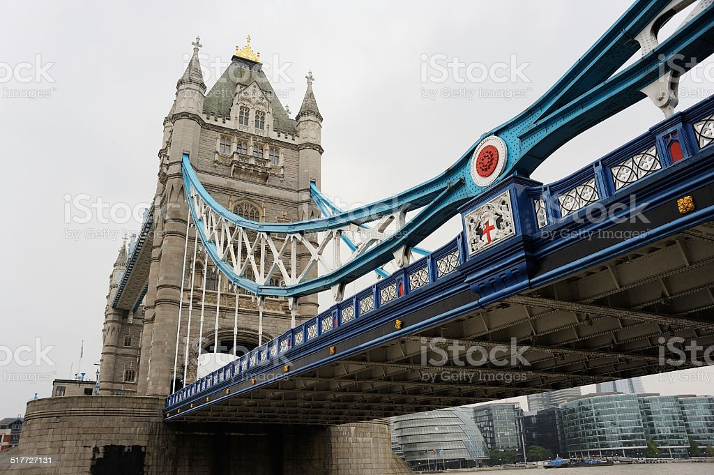 Tower Bridge and South Bank in London stock photo