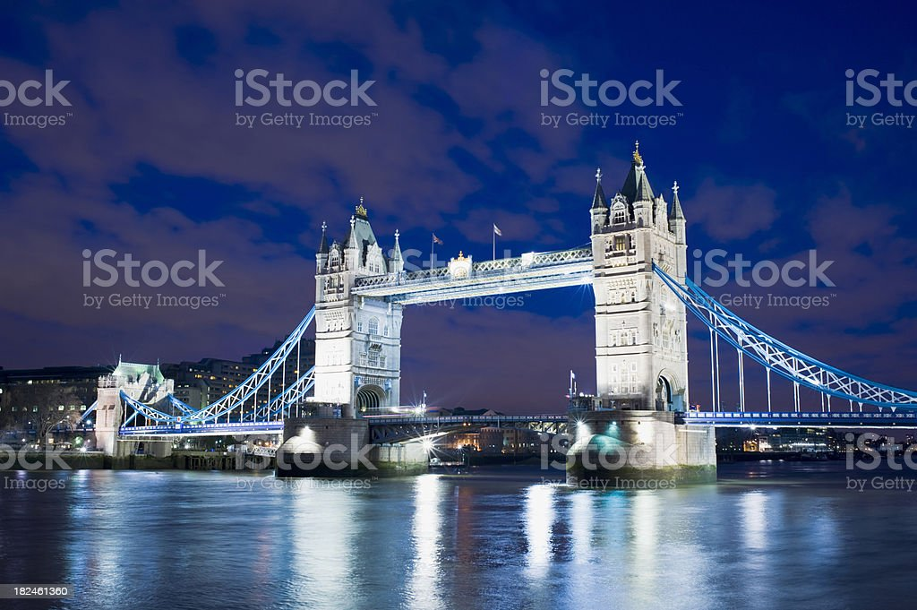 Tower Bridge and the City Skyline London UK royalty-free stock photo