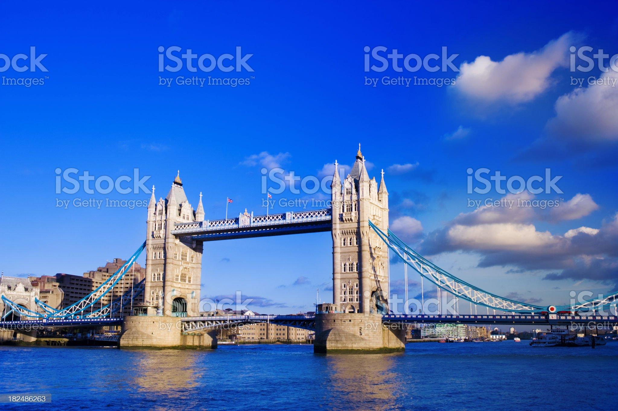 Tower Bridge and the City Skyline London UK royalty-free stock photo