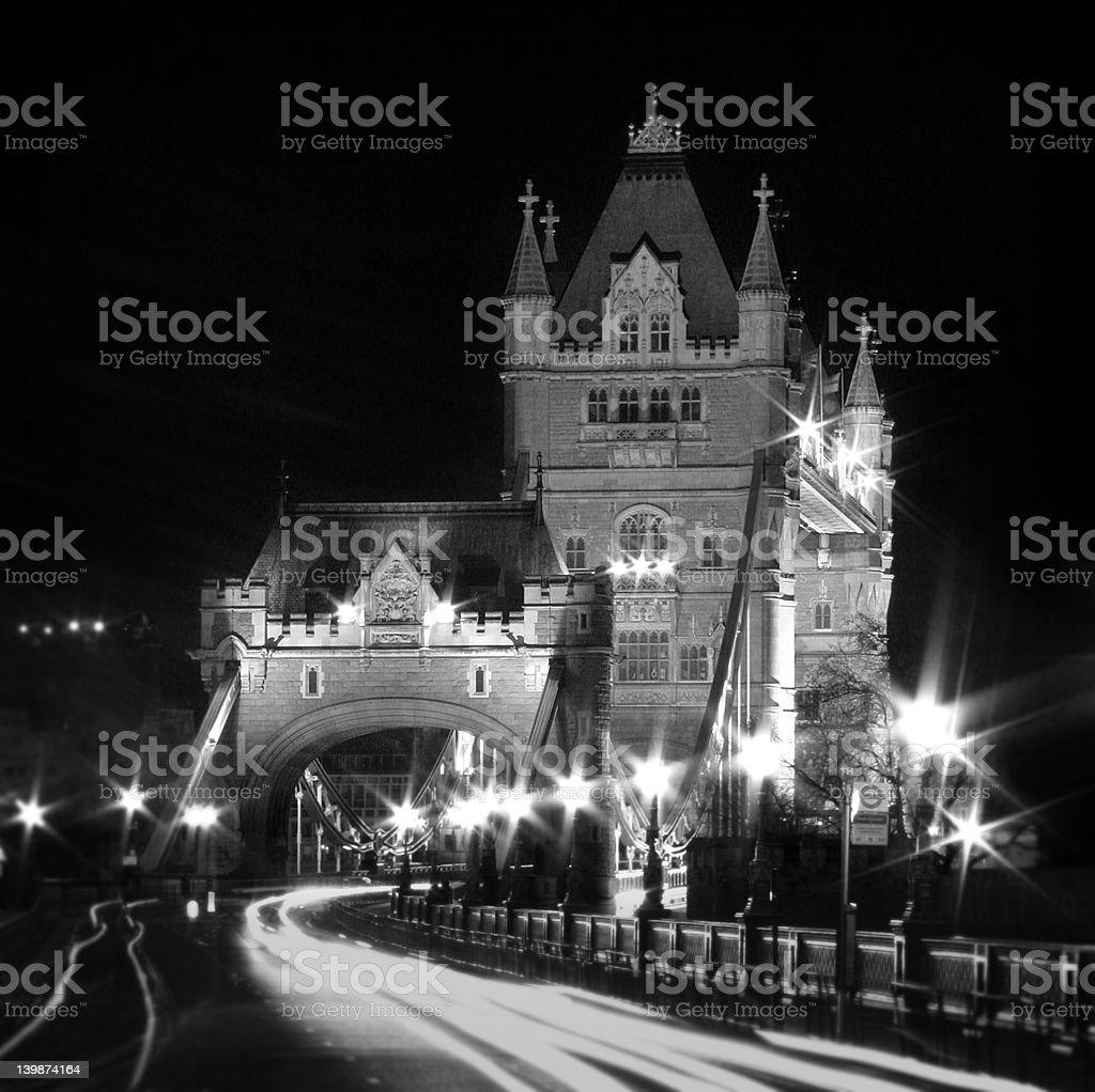 Tower Bridge Approach royalty-free stock photo