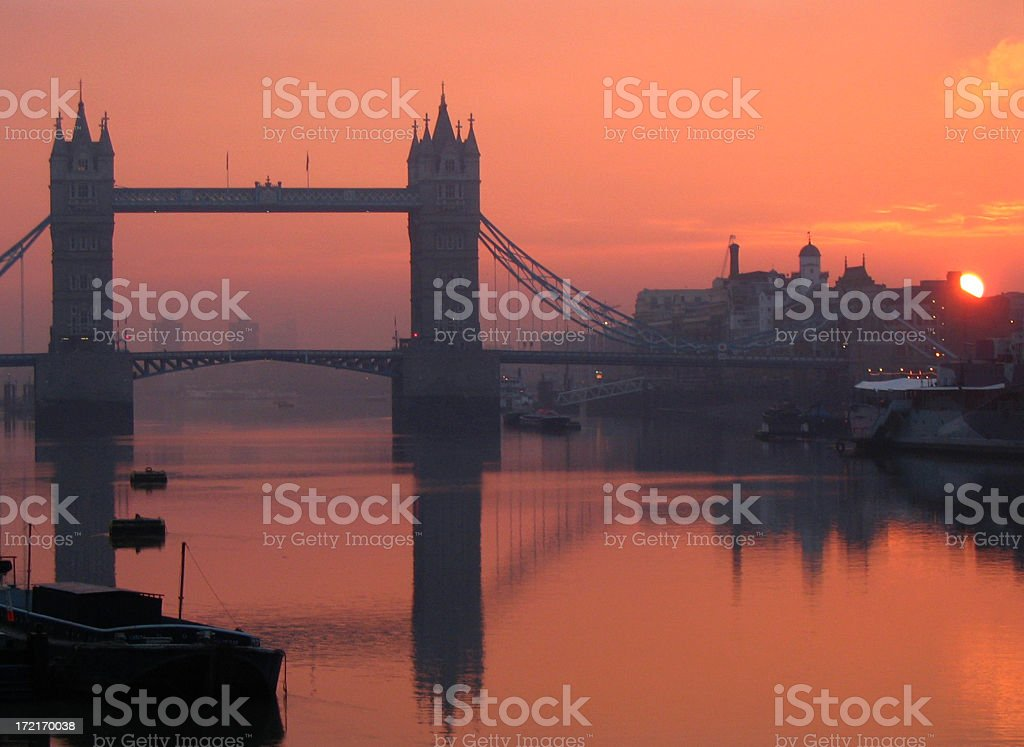 Tower Bridge at Dawn royalty-free stock photo