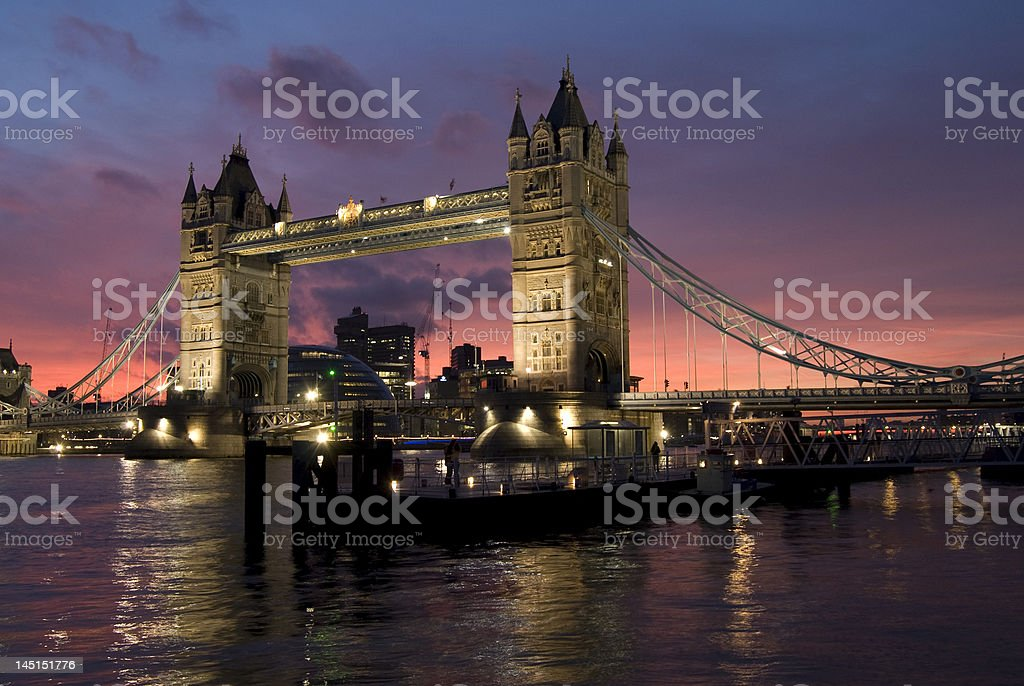 Tower Bridge at Dusk royalty-free stock photo