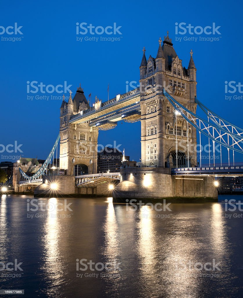 Tower Bridge at night, London United Kingdom royalty-free stock photo