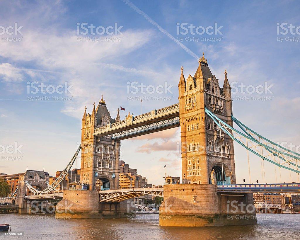 Tower Bridge at sunset royalty-free stock photo