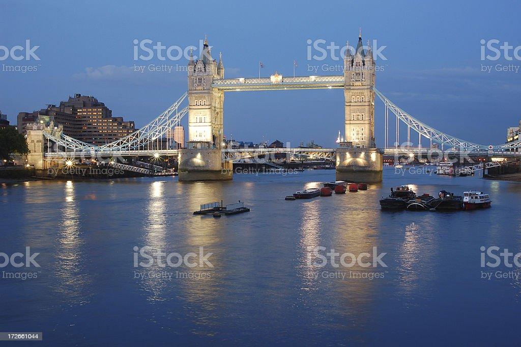 Tower Bridge at Twilight, London royalty-free stock photo