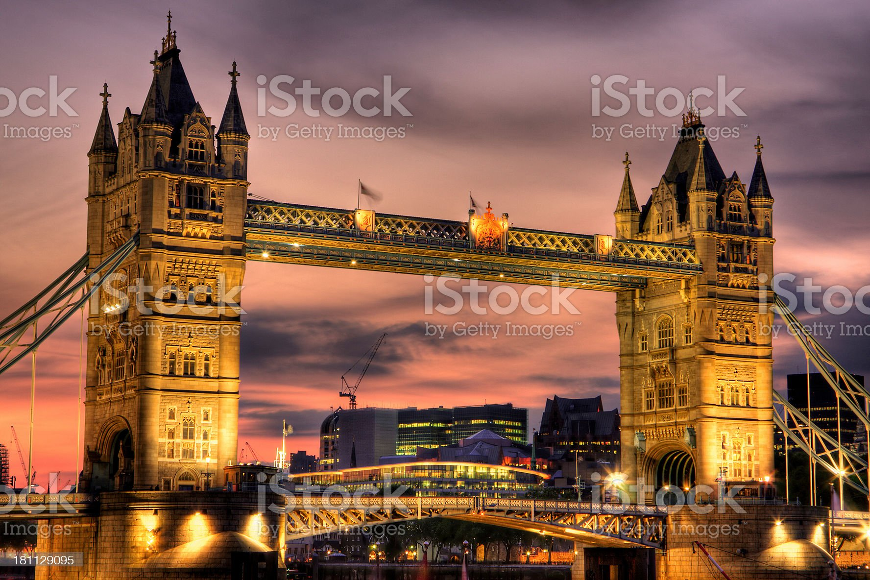 Tower Bridge at Twilight royalty-free stock photo