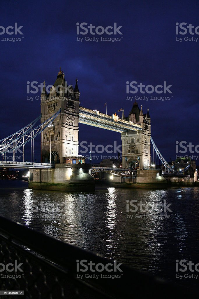 Tower Bridge at twilight stock photo