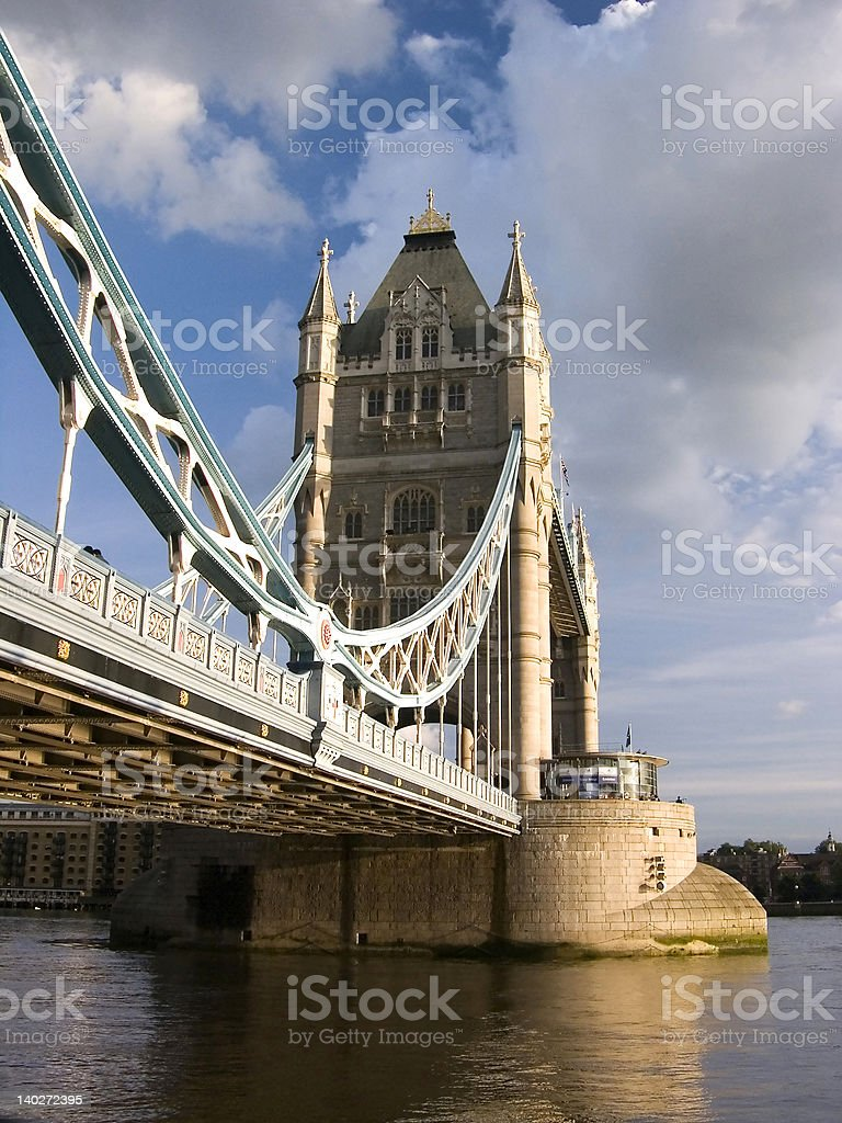 Tower Bridge by cloudy day royalty-free stock photo