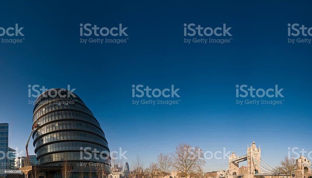 Tower Bridge City Hall London royalty-free stock photo