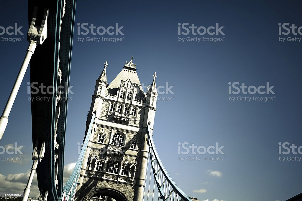 Tower Bridge Detail, London Landmark royalty-free stock photo