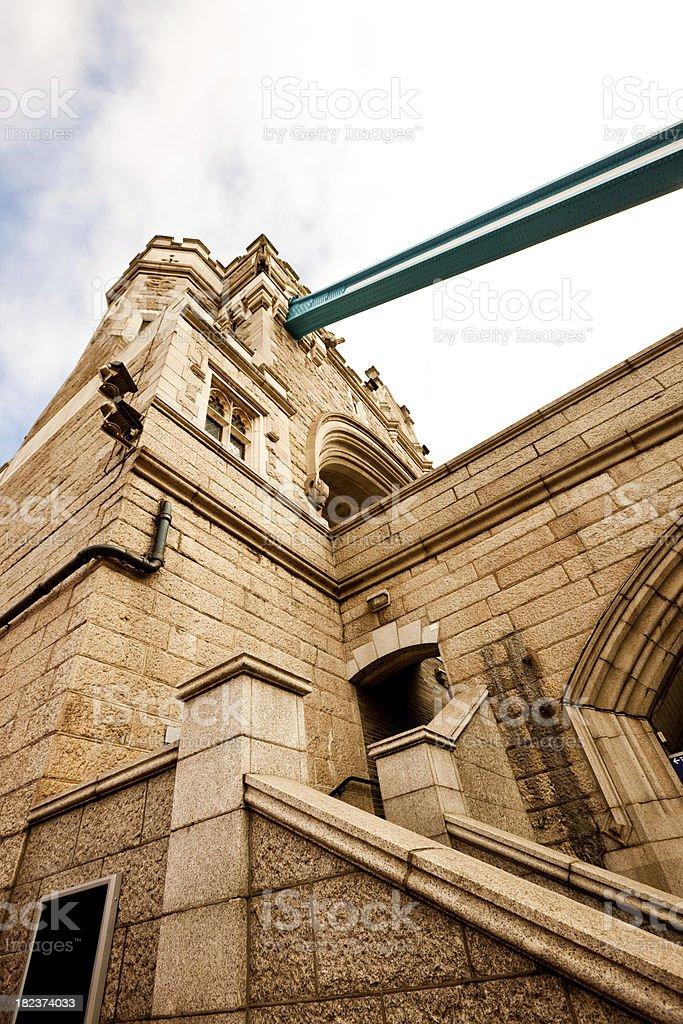 Tower Bridge Detail, London, UK royalty-free stock photo