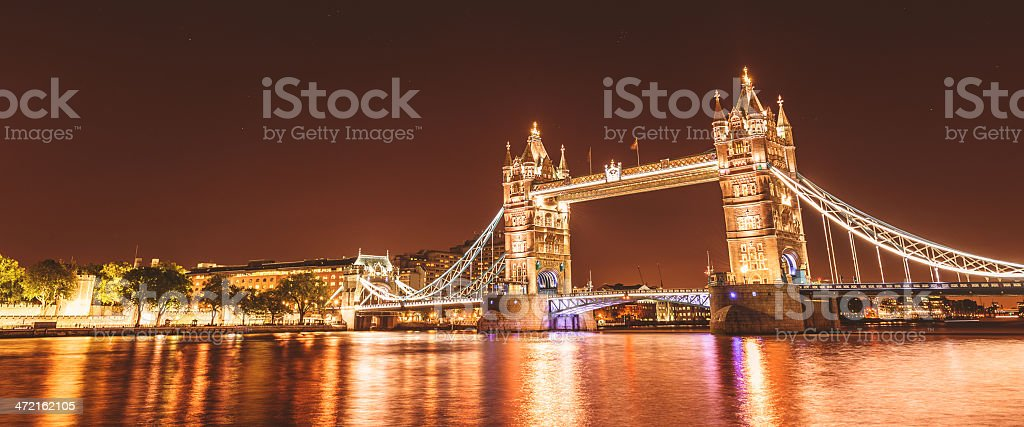 Tower bridge from southbank royalty-free stock photo