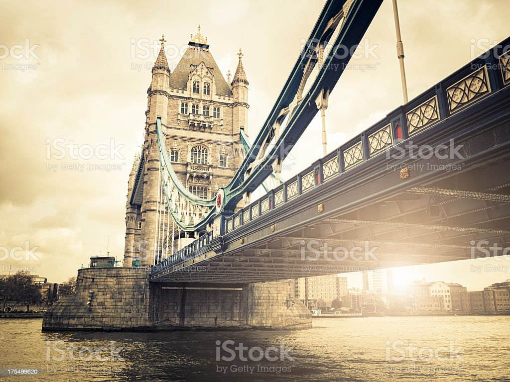 Tower Bridge in London at sunset royalty-free stock photo