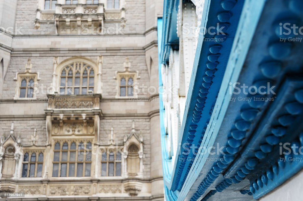 Tower Bridge in London Detail stock photo