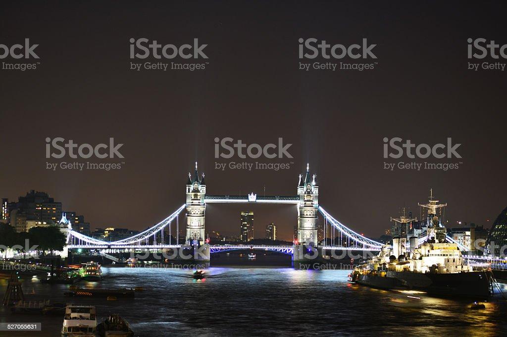 타워 브리지 런던, 영국 royalty-free 스톡 사진