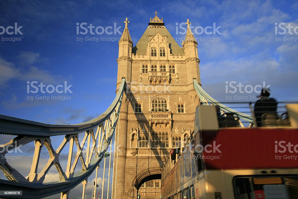 Tower Bridge in London, England royalty-free stock photo