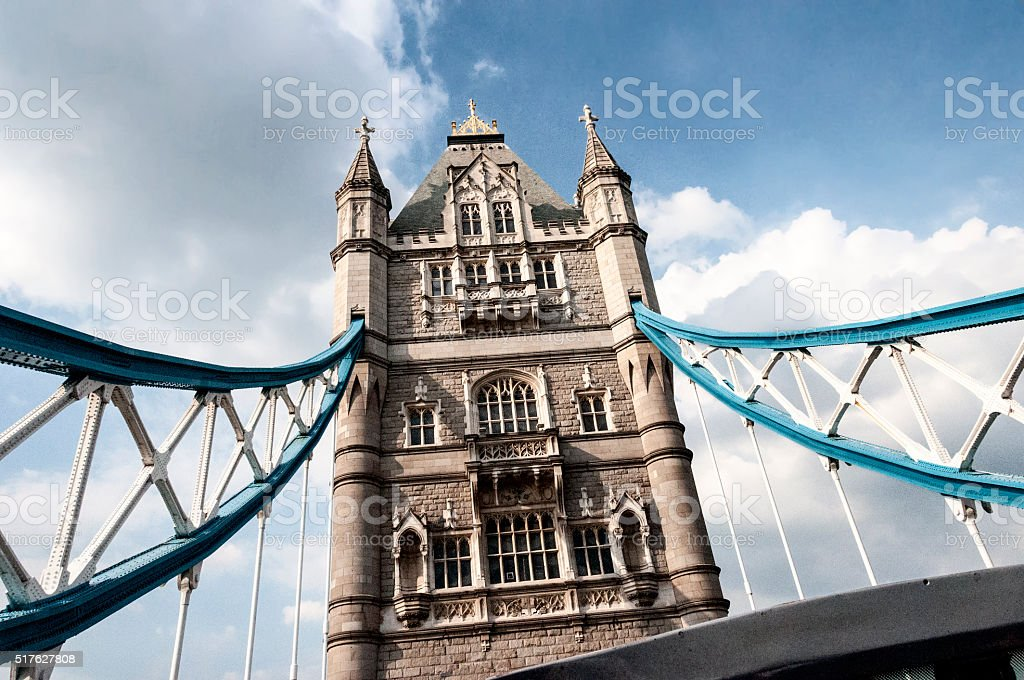 Tower Bridge in London, England, United Kingdom stock photo