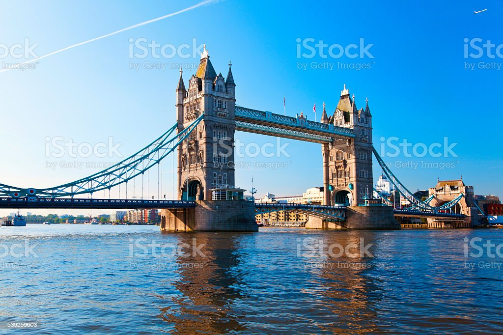 Tower Bridge in London, England / United Kingdom stock photo