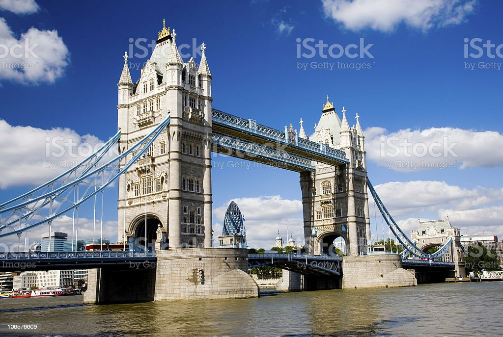 Tower bridge in London in England stock photo