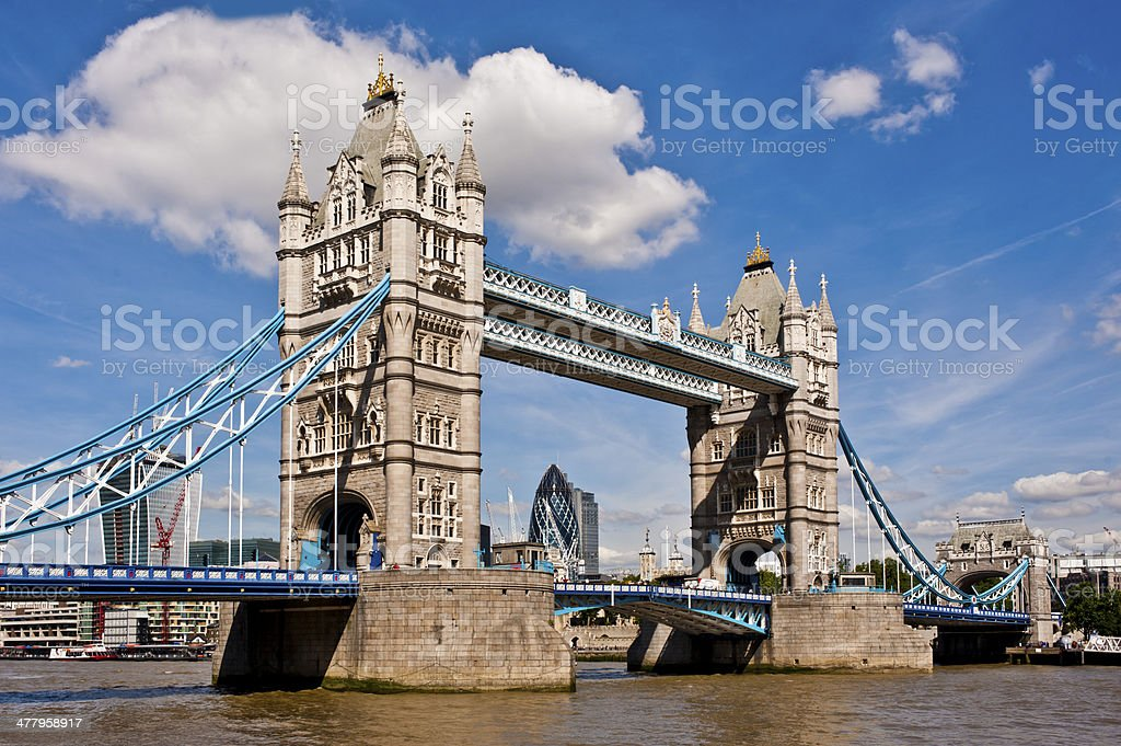 Tower Bridge in London on a beautiful sunny day royalty-free stock photo