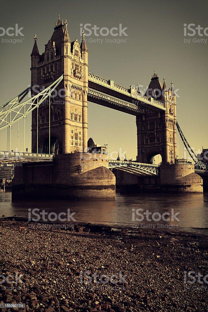 Tower Bridge in London royalty-free stock photo