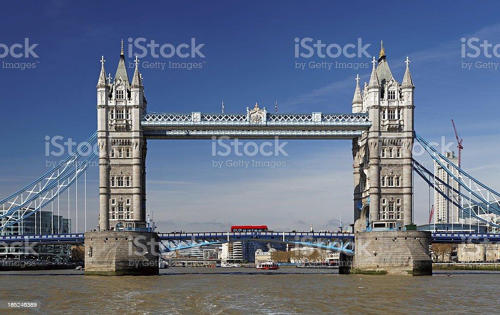 Tower Bridge in London stock photo