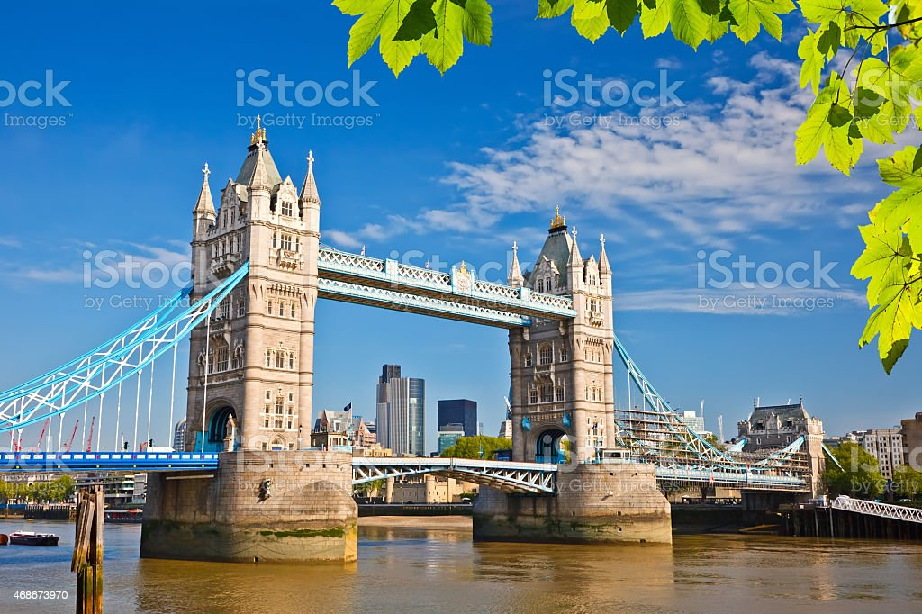 Tower bridge in London stock photo