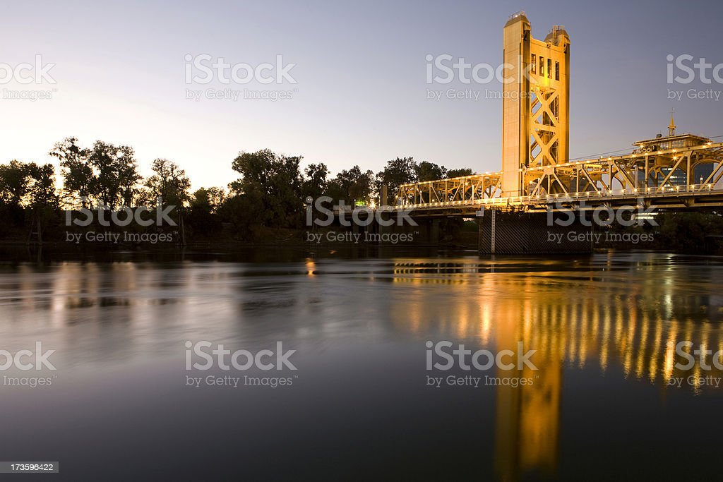Tower bridge in Sacramento royalty-free stock photo