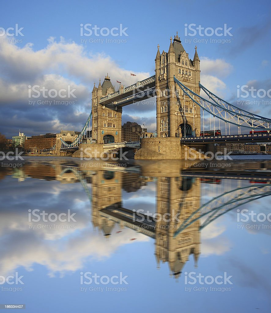 Tower Bridge in the evening, London, England royalty-free stock photo