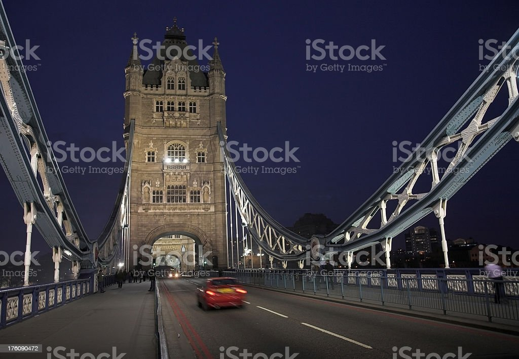 Tower Bridge in the evening royalty-free stock photo