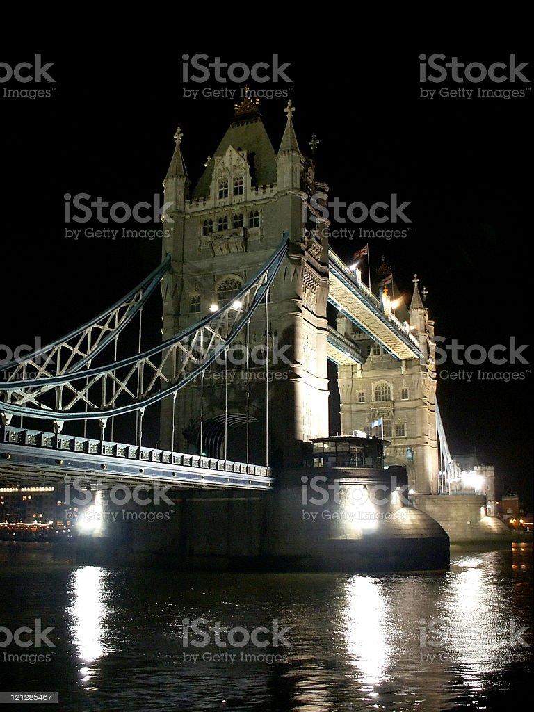 Tower Bridge London at night royalty-free stock photo