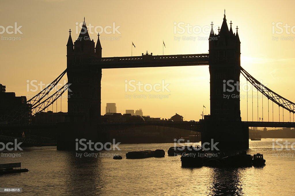 Tower Bridge, London at Sunrise stock photo