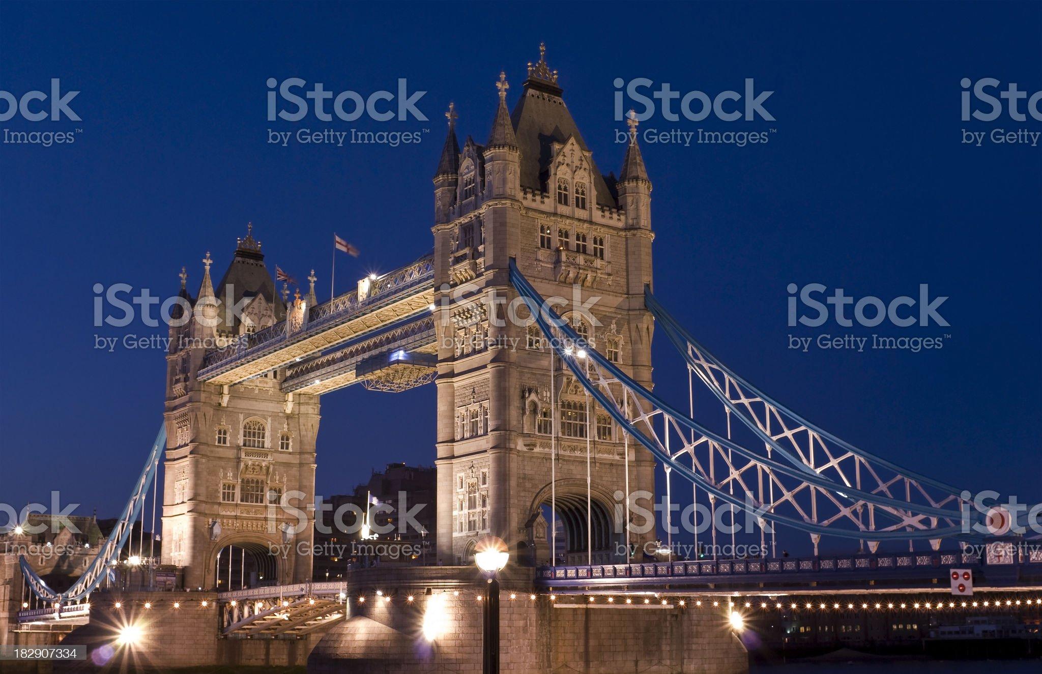 Tower Bridge, London at twilight royalty-free stock photo