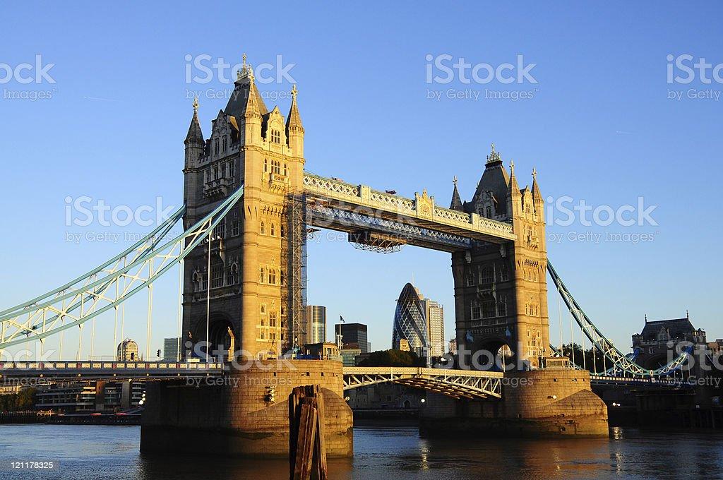 Tower Bridge, London early morning royalty-free stock photo